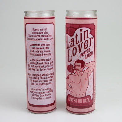 Latin Lover Prayer Candle