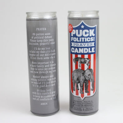 Puck Folitics Prayer Candle