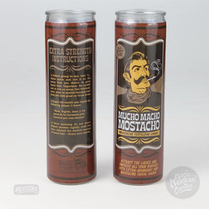 Mucho Macho Mostacho Prayer Candle