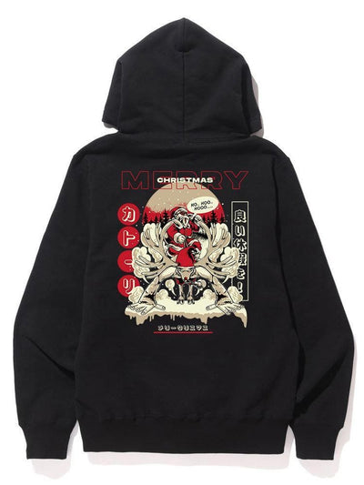 Merry Christmas Hoodie - Catori Clothing Anime T-Shirts and Clothing x Streetwear