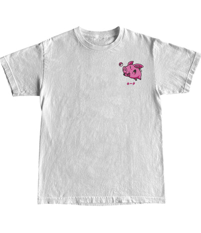 CHAMPION® PIG EMBROIDERY T-SHIRT - Catori Clothing Anime T-Shirts and Clothing x Streetwear