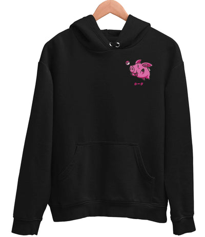 CHAMPION® PIG EMBROIDERED HOODIE - Catori Clothing Anime T-Shirts and Clothing x Streetwear
