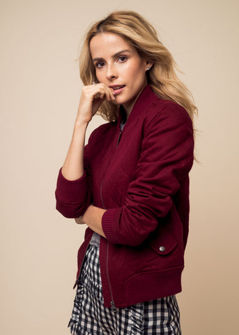 GIRL BOMBER JACKET - WINE - Shop Sincerely Jules