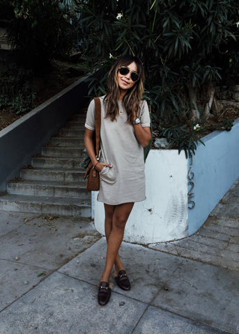 CARA DRESS - TAUPE
