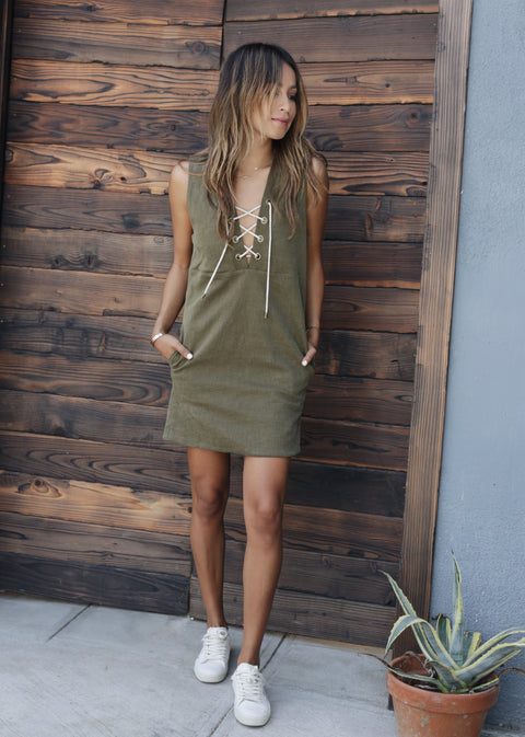 ASH LACE UP DRESS