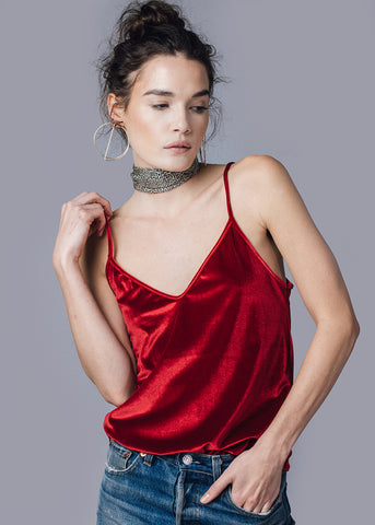 CHLOE CAMISOLE - RED - Shop Sincerely Jules