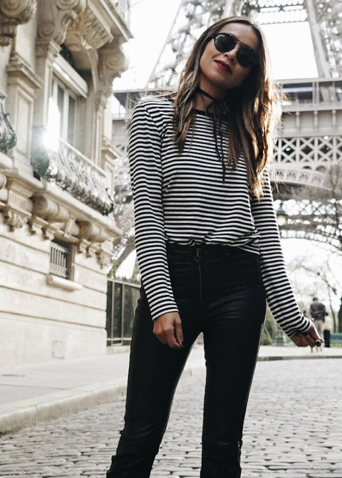 LENA STRIPED TEE