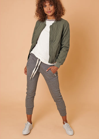 LUX JOGGERS - GREY MÉLANGE - Shop Sincerely Jules