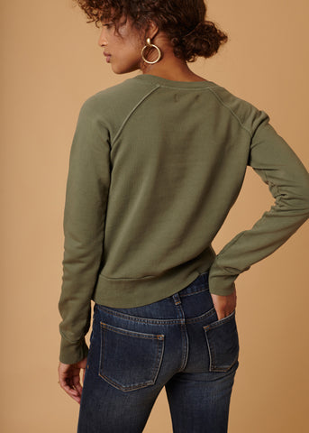 KAIA SWEATSHIRT - OLIVE - Shop Sincerely Jules
