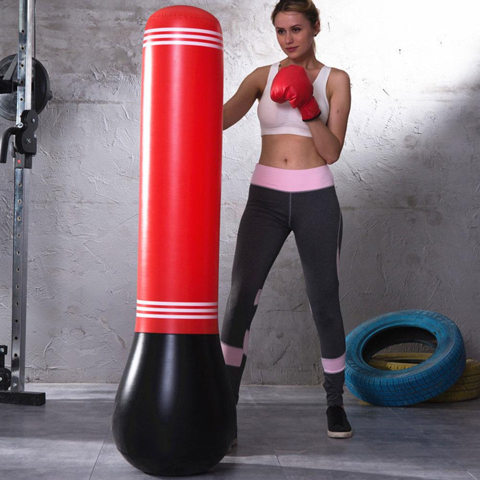 Children Punching Bag Inflatable Clown Boxing Training Exercise Toy For Kids New
