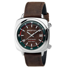 Briston Brown Clubmaster Diver Automatic Watch 18642.PS.D.10W.LVC