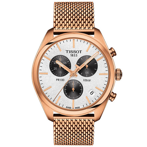 Men's Gold T-Classic PR100 Chronograph Tissot Watch T101.417.33.031.01