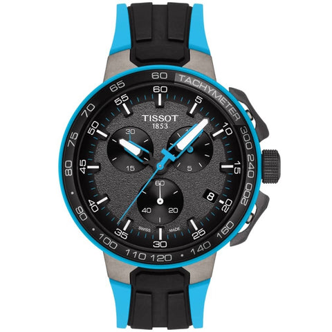 Men's Light Blue T-Race Cycling Chronograph Tissot Watch T111.417.37.441.05