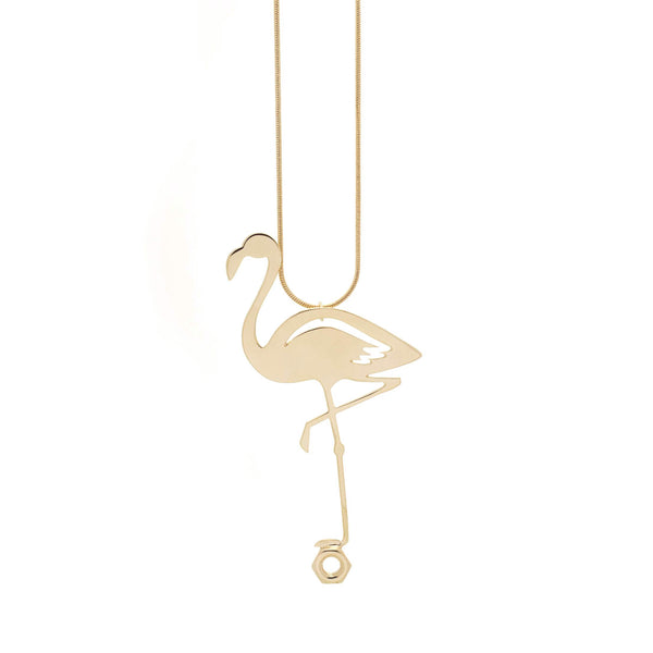 <transcy>Flamingo Necklace</transcy>