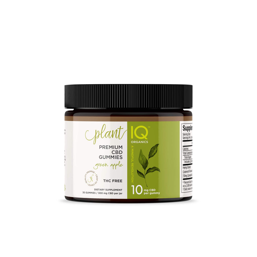 Plant IQ Organics Green Apple 30 count 10mg Premium Vegan CBD Gummies
