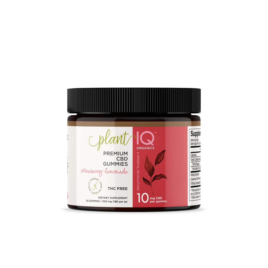 Plant IQ Organics Strawberry Lemonade 30 count 10mg Premium Vegan CBD Gummies