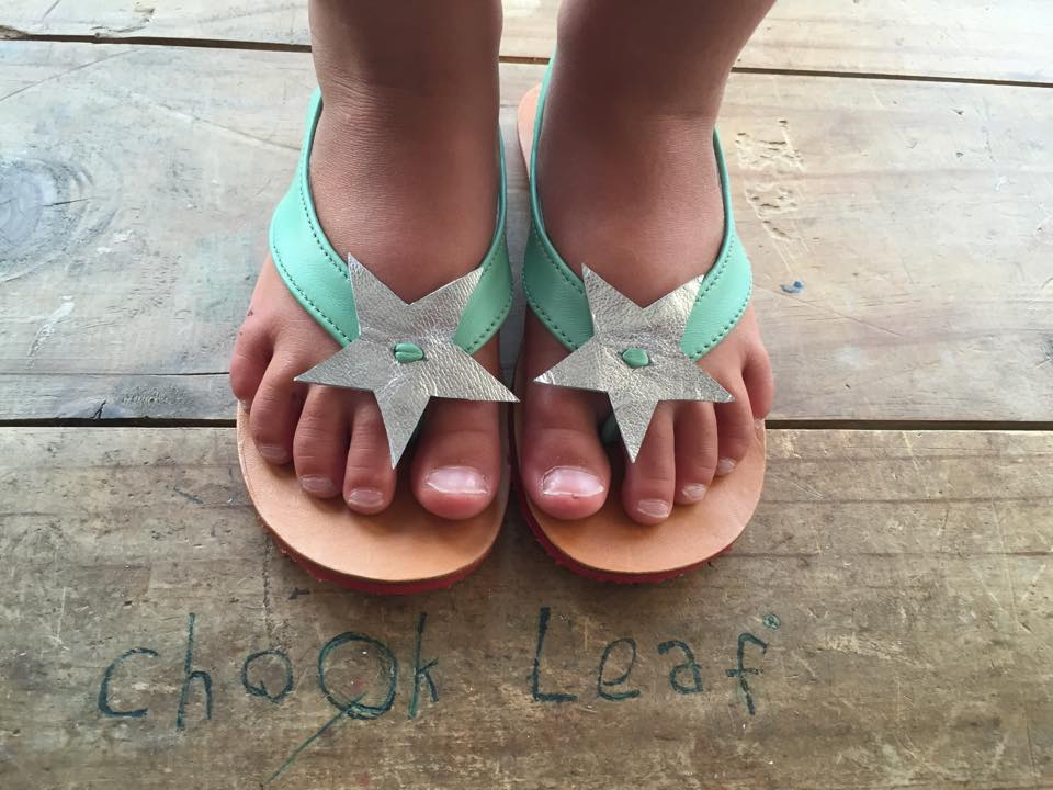 Children's chook leaf Sandles with Star