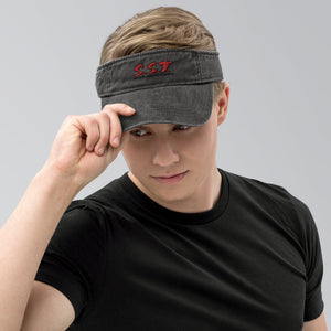 Denim visor