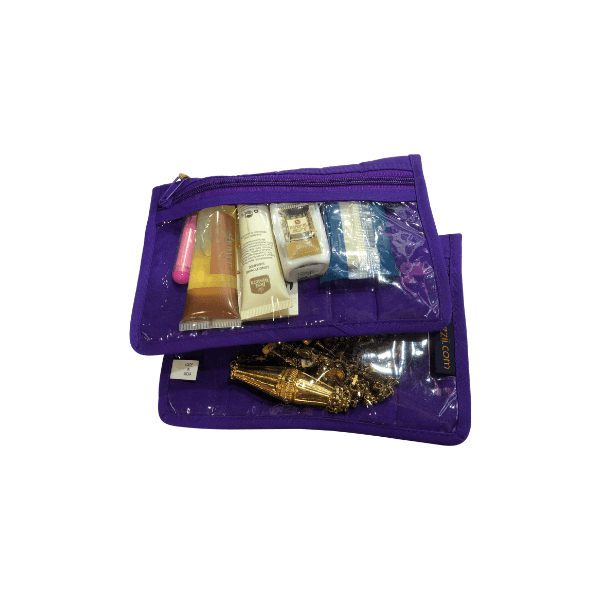 2 Piece Jewelry/Makeup Pouches