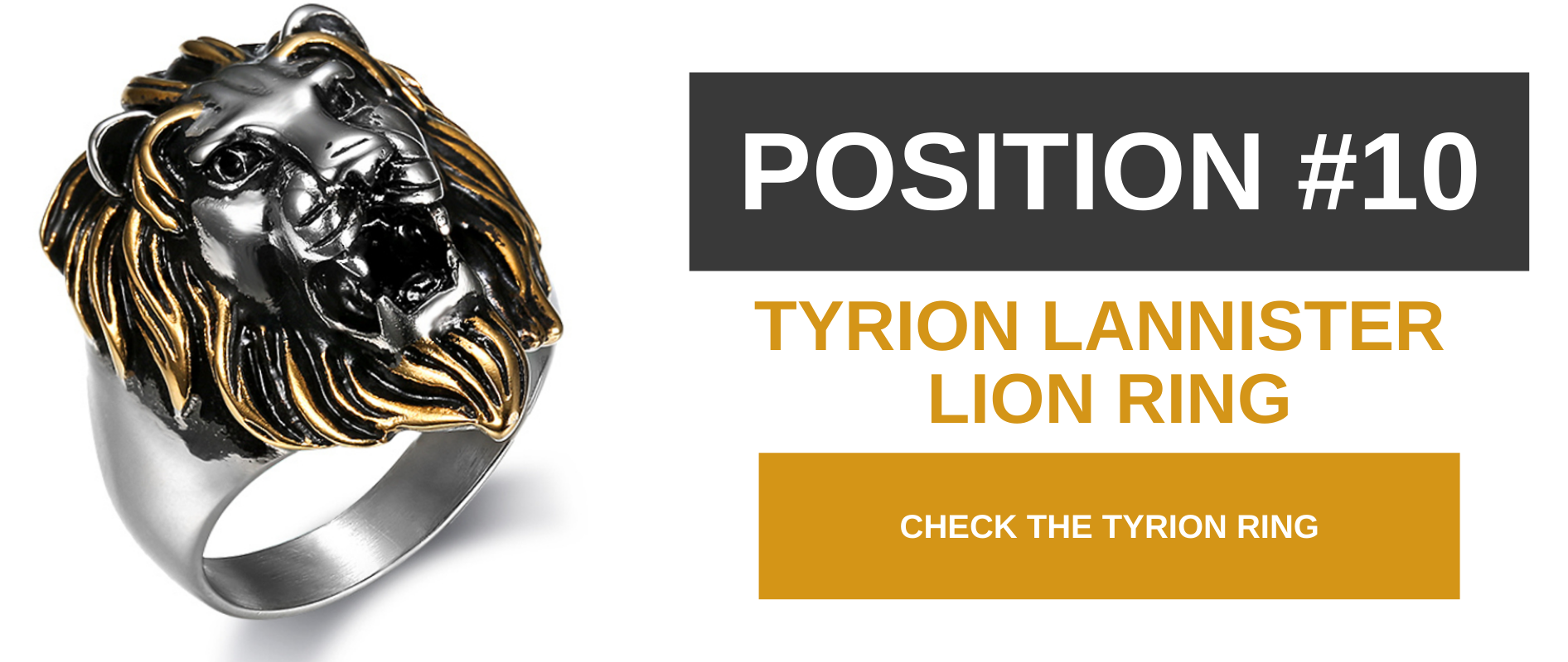 Tyron Lannister ring.