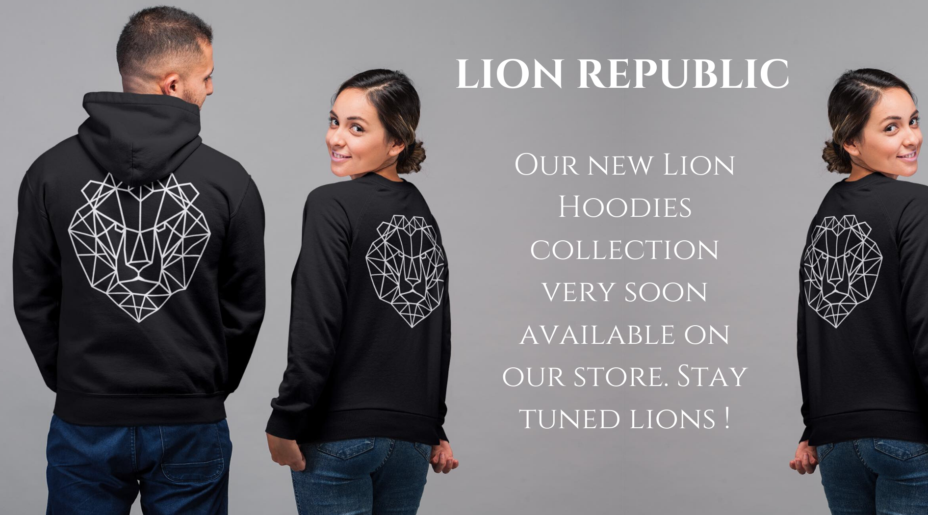 Lion sweatshirts.