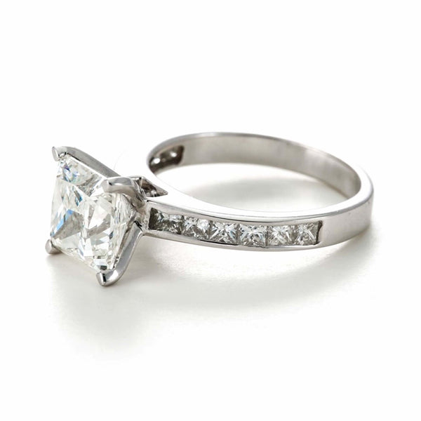 1.5ct Princess Cut Channel Set Band - 18ct White Gold - SayItWithDiamonds.com