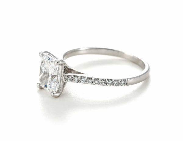 1.5ct Radiant Cut Diamond Band - 18ct White Gold - SayItWithDiamonds.com
