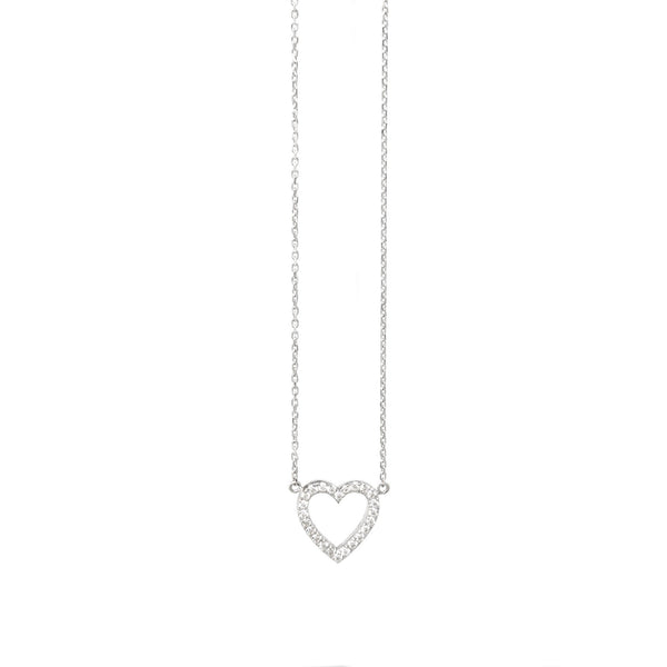 18ct Gold Dainty Diamond Heart - SayItWithDiamonds.com