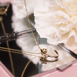 18ct Yellow Gold Winged Initial Necklace – Real Diamond - SayItWithDiamonds.com