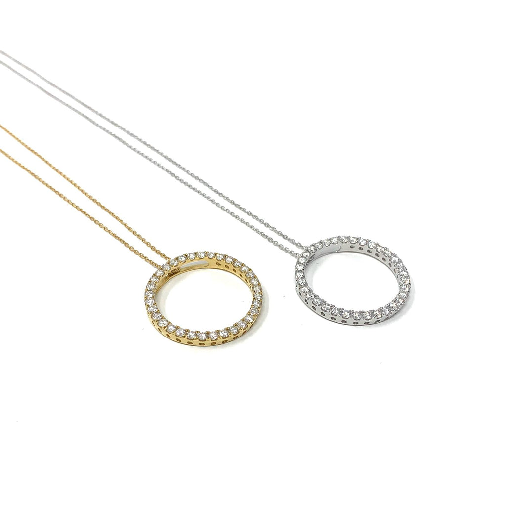 18ct/1ct Circle of Life Necklace - SayItWithDiamonds.com