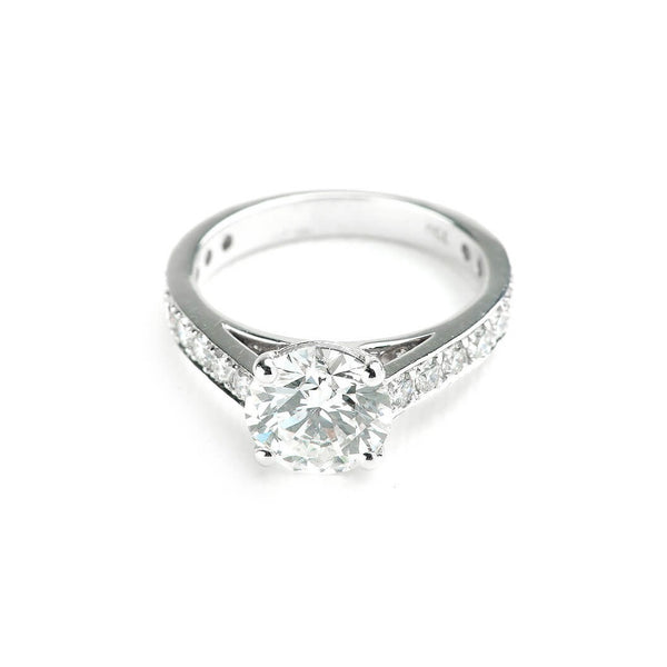 1ct Single Stone Channel Set Diamond Band - 18ct White Gold - SayItWithDiamonds.com