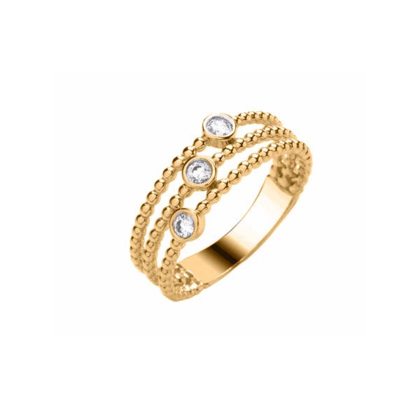 3 Stone Band .15ct - 9ct Gold - SayItWithDiamonds.com