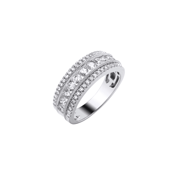 9ct White Gold Diamond Band - SayItWithDiamonds.com