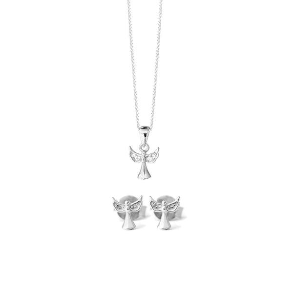 Angel Necklace - Sterling Silver - SayItWithDiamonds.com