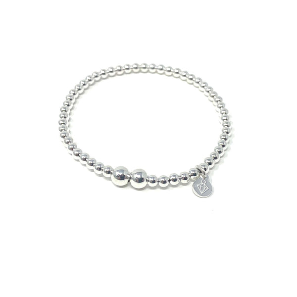 Baby and junior sterling silver ball bracelet - SayItWithDiamonds.com