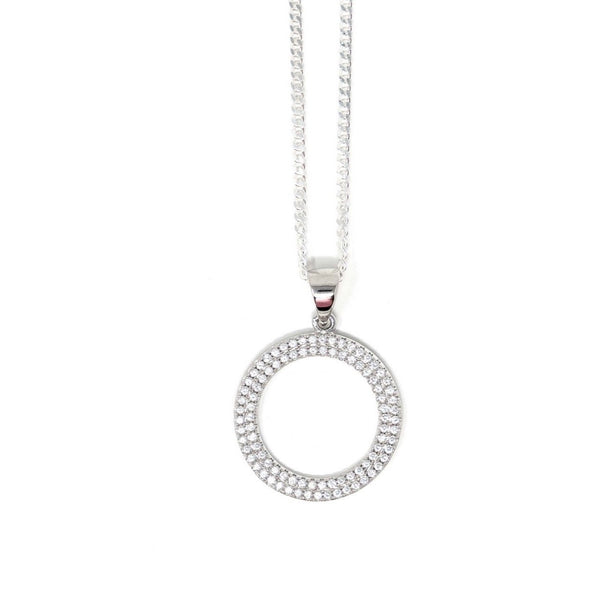 Circle of Life - Sterling Silver with CZ Stones - SayItWithDiamonds.com