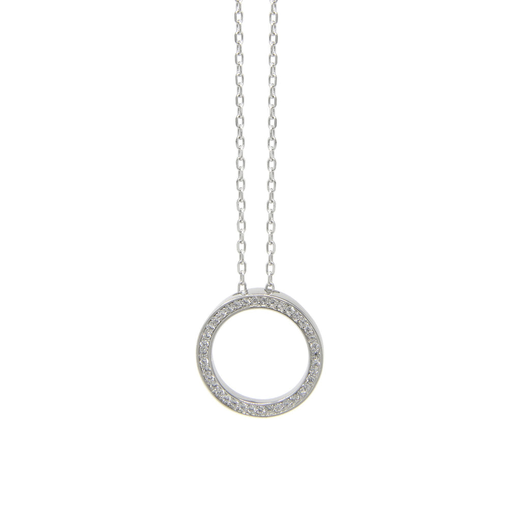 Circle of Life with CZ Stones - Sterling Silver - SayItWithDiamonds.com