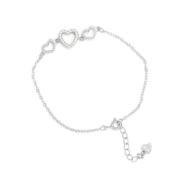 Dainty Triple Heart Bracelet - Gift Box Included - SayItWithDiamonds.com