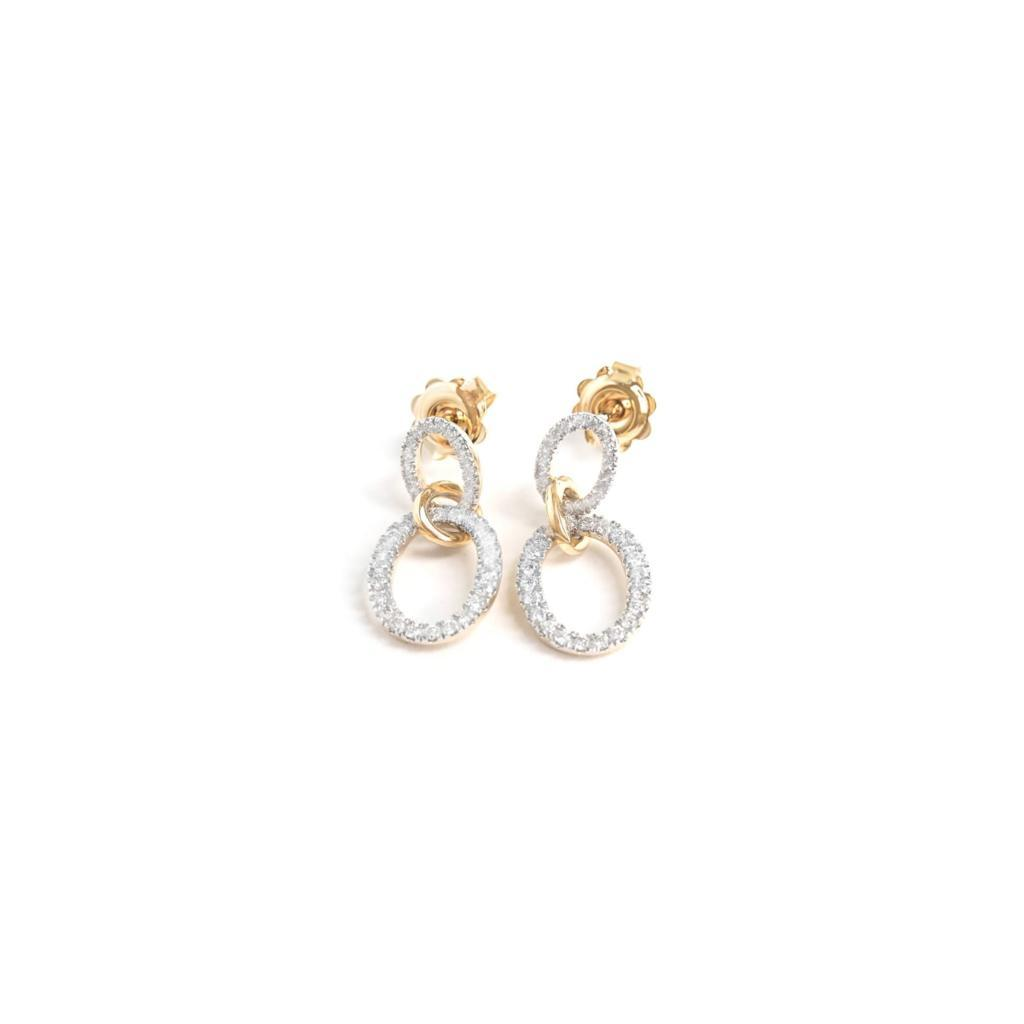 Double Diamond Drop Earrings - 0.50ct - SayItWithDiamonds.com