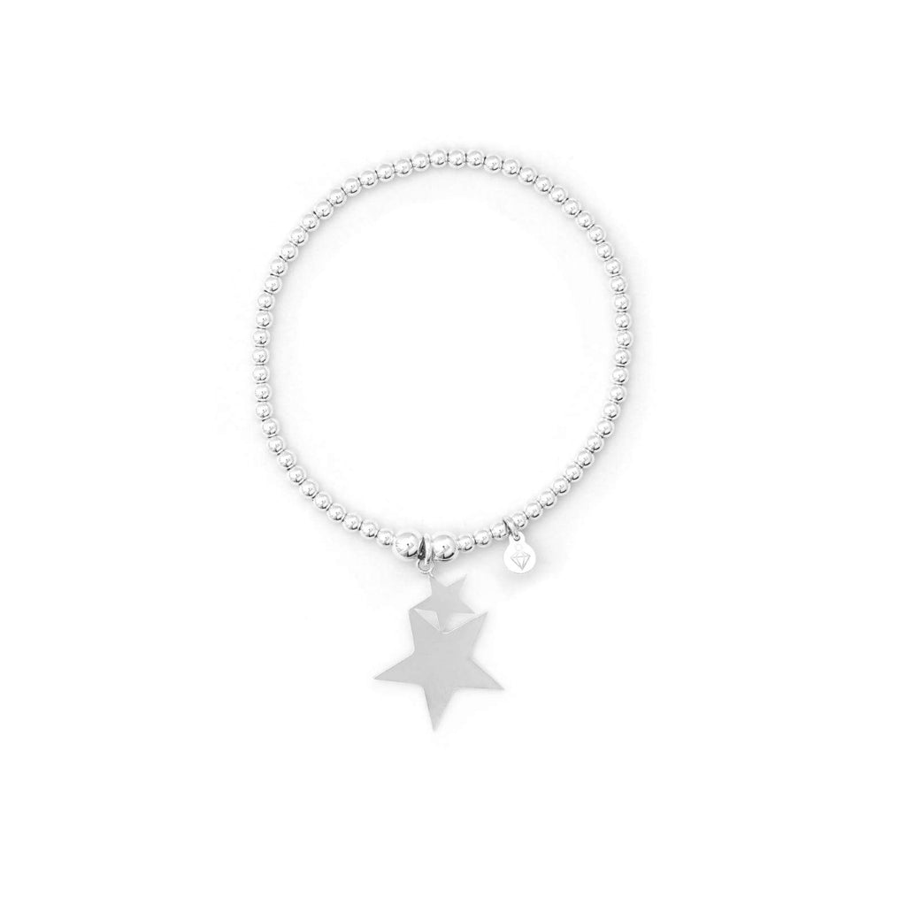 Double Star Bracelet - Sterling Silver - SayItWithDiamonds.com