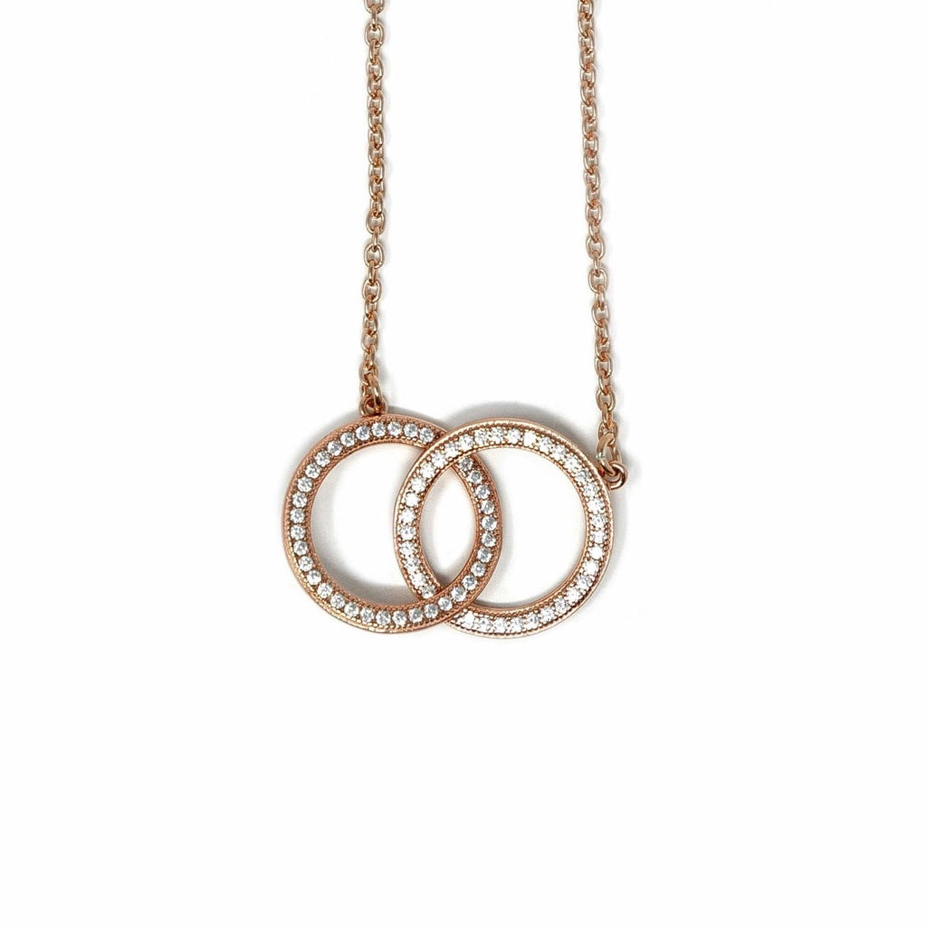 Forever Joyous Necklace - 18ct Rose Gold Plated - SayItWithDiamonds.com