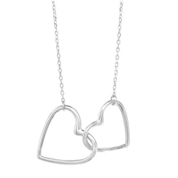 Heart & Soul Sterling Silver Necklace - SayItWithDiamonds.com