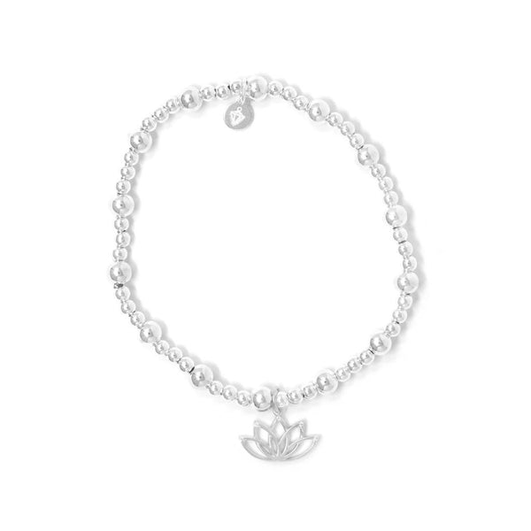 Hollow Lotus Sterling Silver Bracelet - SayItWithDiamonds.com