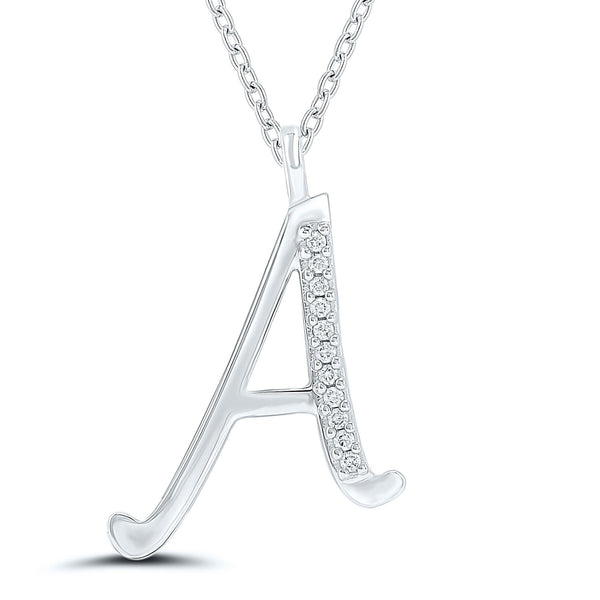 Initial Necklace - 9ct Gold - SayItWithDiamonds.com