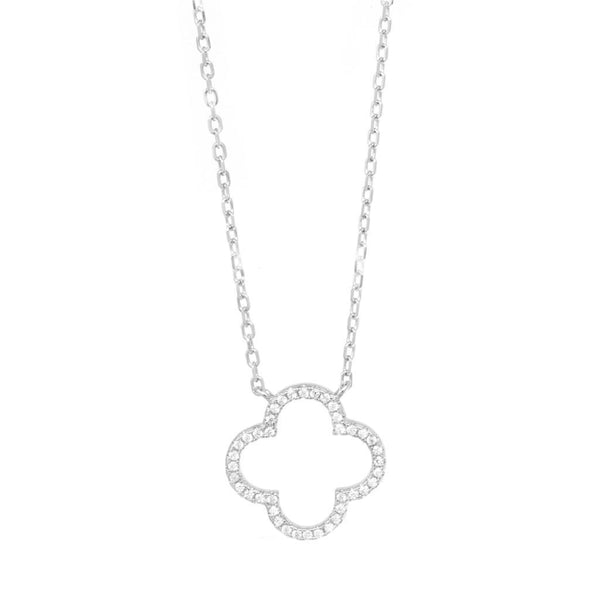 Love Flower Sterling Silver Necklace - SayItWithDiamonds.com
