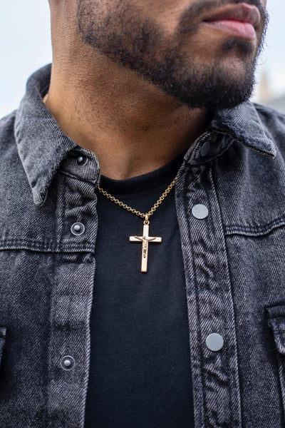 Men's Edit Large Crucifix Pendant - SayItWithDiamonds.com