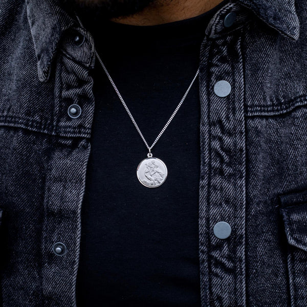 Men's Edit Saint Christopher Pendant - SayItWithDiamonds.com