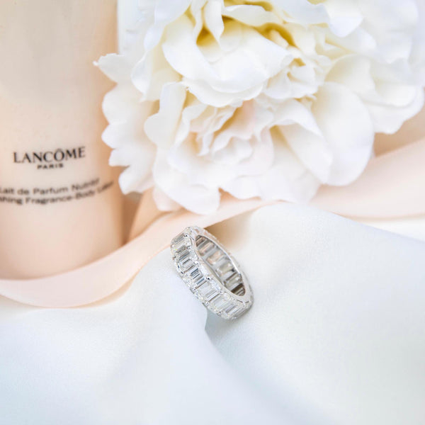 Moissanite Emerald Cut Band - SayItWithDiamonds.com
