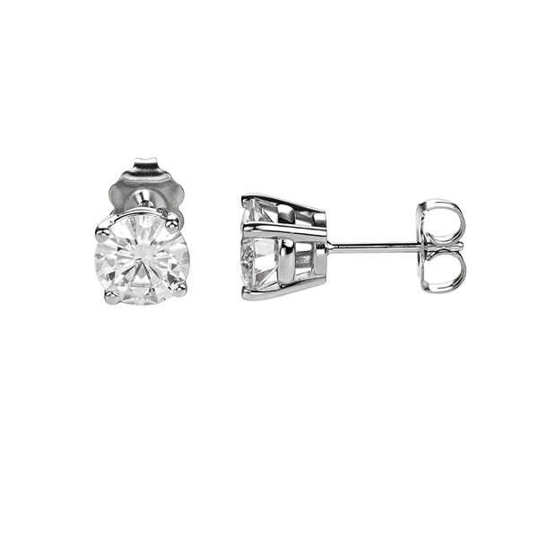 Moissanite Screw Back Earrings - 18ct Gold - SayItWithDiamonds.com