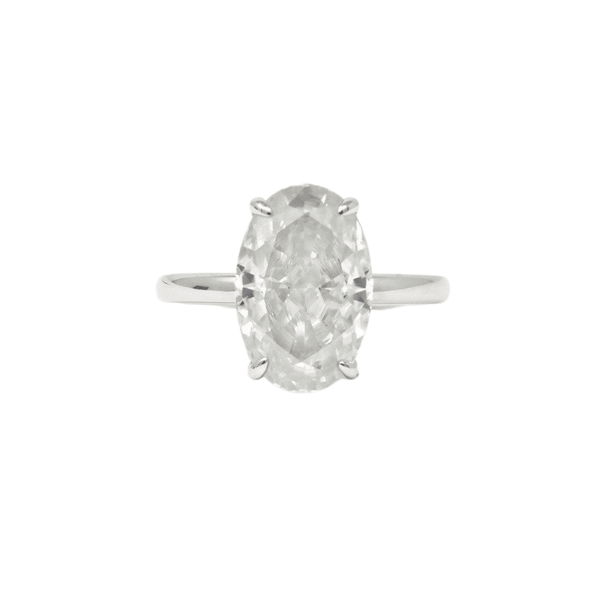 Oval Moissanite Ring - SayItWithDiamonds.com